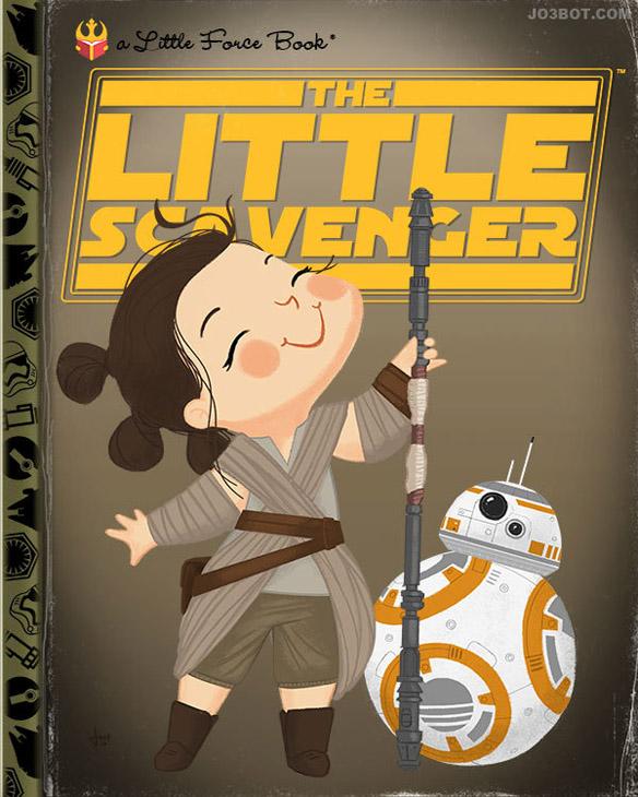 Star Wars The Force Awakens The Little Scavenger Art Print