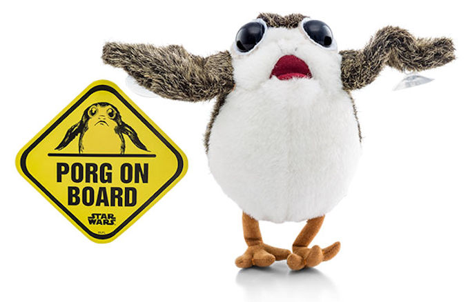 Star Wars The Last Jedi Porg with Suction Cups