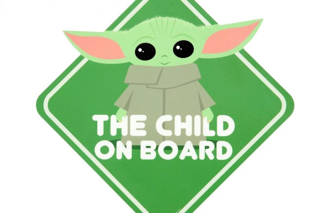 Star Wars The Mandalorian The Child On Board Car Decal
