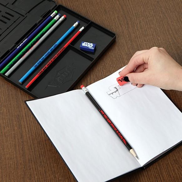 Star Wars Vader Pencil Case and Sketchbook Set