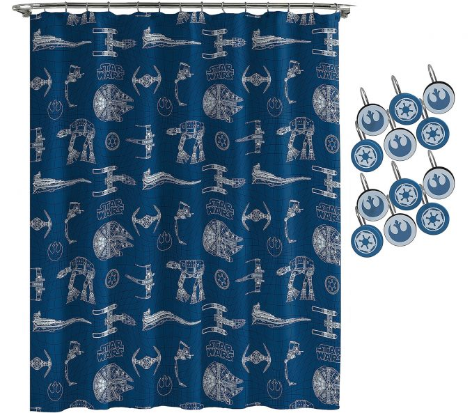 Star Wars Vehicles Shower Curtain Set