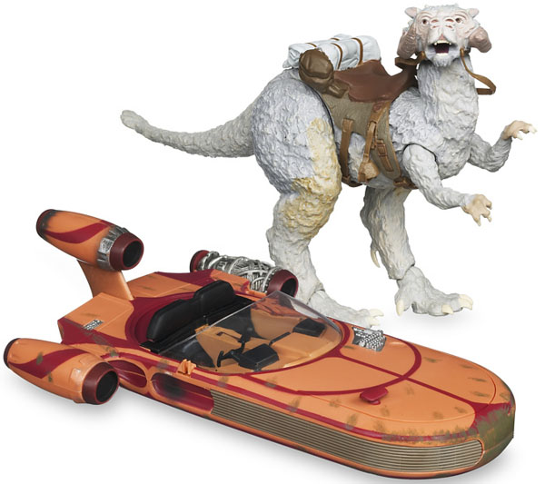 Star Wars Vintage Vehicles (Tauntaun and Landspeeder)