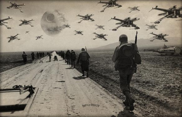 Star Wars WWII Retaliate Art Print
