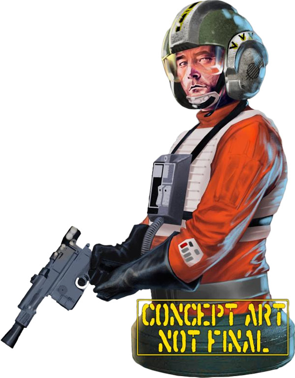 Star Wars Wedge Antilles Bust