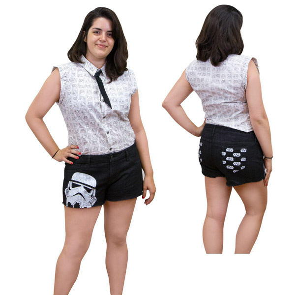 Star Wars Womens Denim Shorts