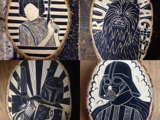 Star Wars Woodcut Art