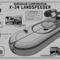 Star Wars X-34 Landspeeder TechPlate