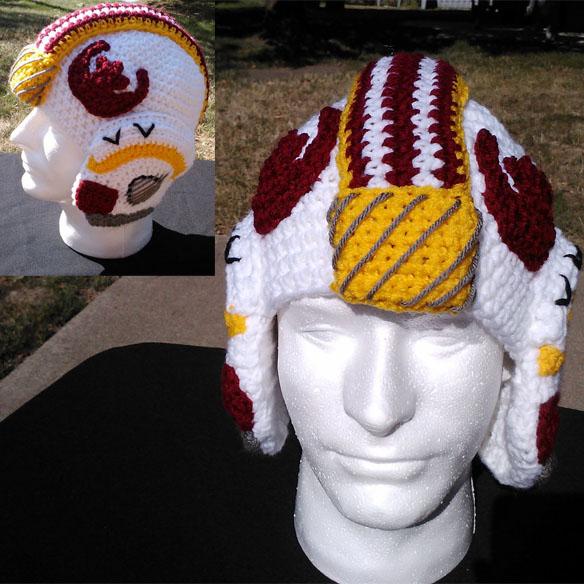 Star Wars X Wing Crochet Helmet Hat Geekalerts