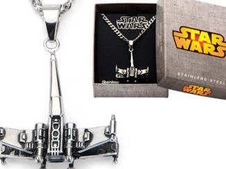 Star Wars X-Wing Starfighter 3D Stainless Steel Necklace