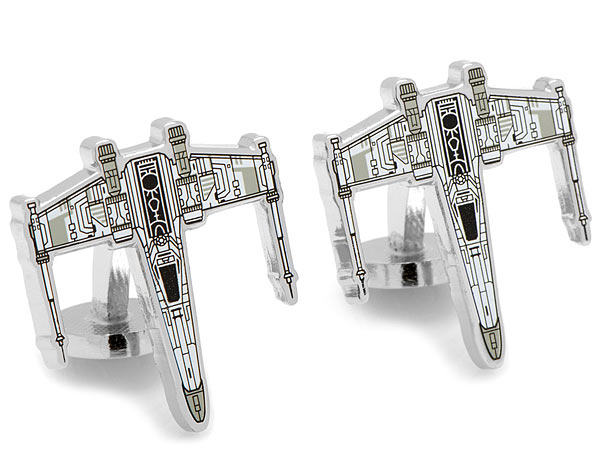 Star Wars X-Wing Starfighter Blueprint Cufflinks