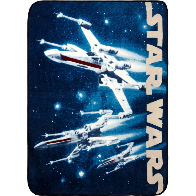 Star Wars X-Wing Starfighter Plush Throw Blanket