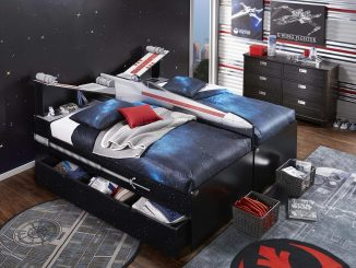 Star Wars X-wing Twin Bookcase Bed