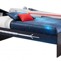 Star Wars X-wing Twin Bookcase Bed Left