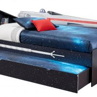 Star Wars X wing Twin Bookcase Bed Trundle Left