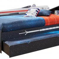 Star Wars X wing Twin Bookcase Bed Trundle Right