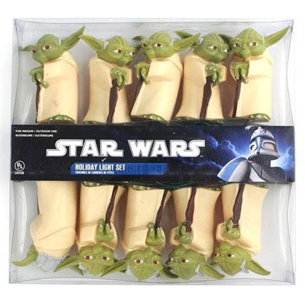 Star Wars Yoda Christmas Light Set