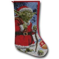 Star Wars Yoda Claus Stocking