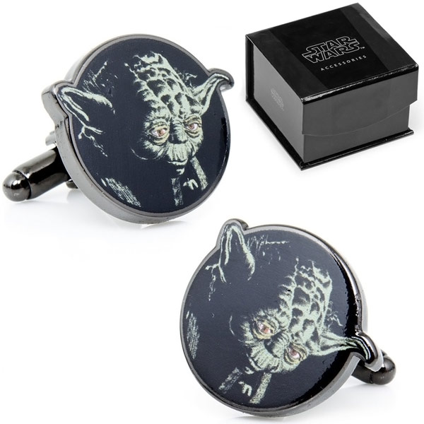 Star Wars Yoda Head Cufflinks