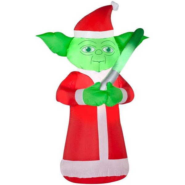 Star Wars Yoda Lighted Inflatable Christmas Santa