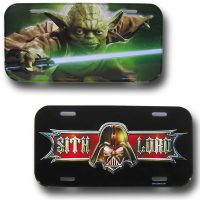 Star Wars Yoda & Sith Lord License Plates