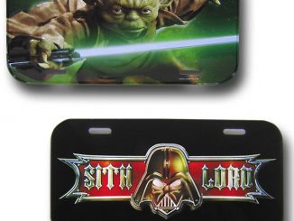 Star Wars Yoda & Sith Lord License Plates