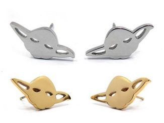 Star Wars Yoda Stainless Steel Stud Earrings