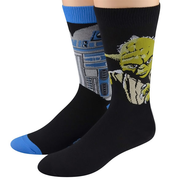 Star-Wars-Yoda-and-R2-D2-Mens-Socks