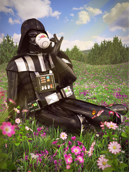 Star Wars on Vacation Art Prints Darth Vader