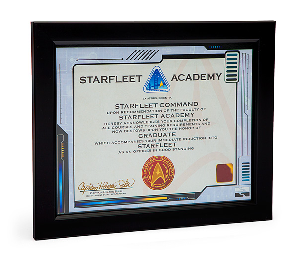 Starfleet Academy Graduate Framed Certificate