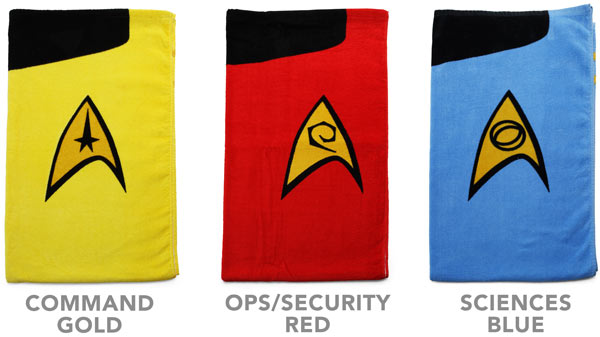 Starfleet-issue towels
