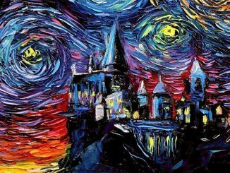 Starry Night Hogwarts Castle Art Print