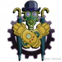 Steampunk Sticker Trystan Mitchell