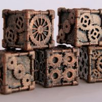 Steampunk Styled Dice