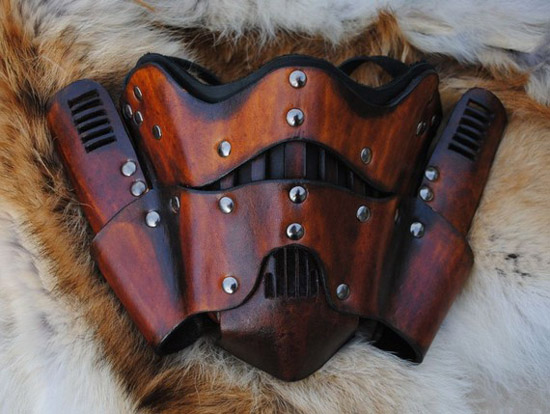 Steampunk Trooper Motorcycle Leather Mask
