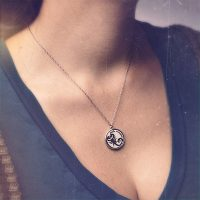 Sterling Penny Dreadful Little Scorpion Charm Necklace
