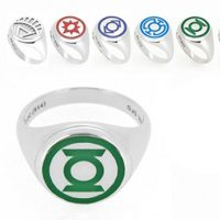 Sterling Silver and Enamel Lantern Corp Rings
