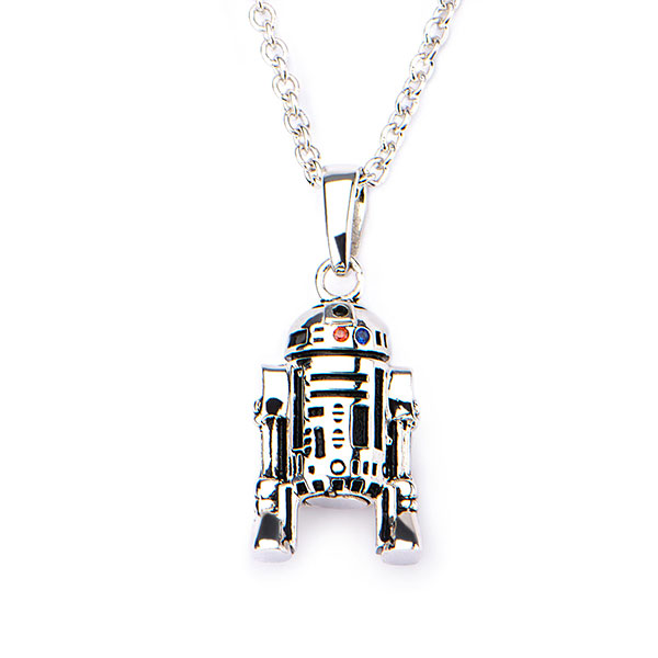 Sterling Star Wars R2-D2 Pendant