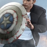 Steve Rogers Sixth Scale Figure using shield