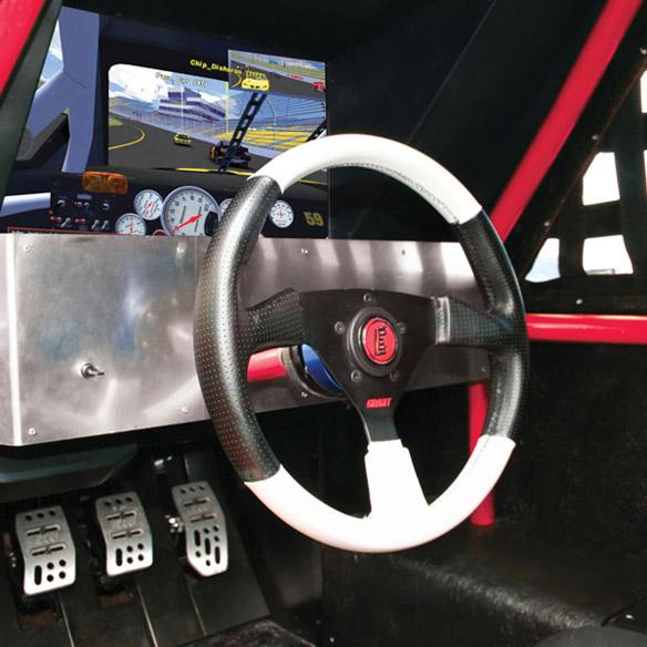 Stock Car Racing Simulator Interior