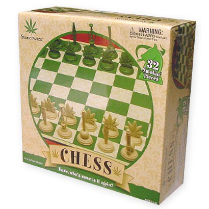 Stonerware Pot Leaf Chess Set