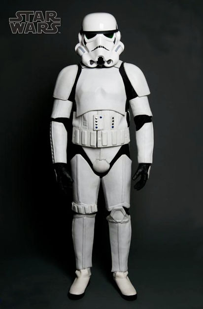 Stormtrooper Leather Motorcycle Suit