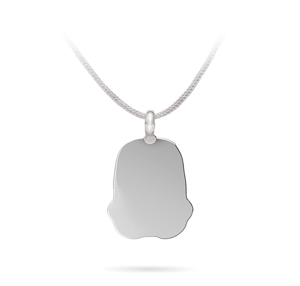 Stormtrooper Silhouette Corded Necklace