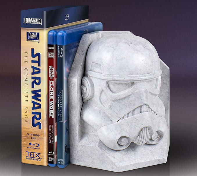 Stormtrooper Stoneworks Faux Marble Bookends