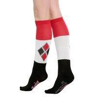 Suicide Squad Harley Quinn Color Block Knee Socks 1