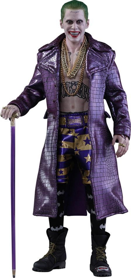 suicide squad joker purple coat version sixthscale figure