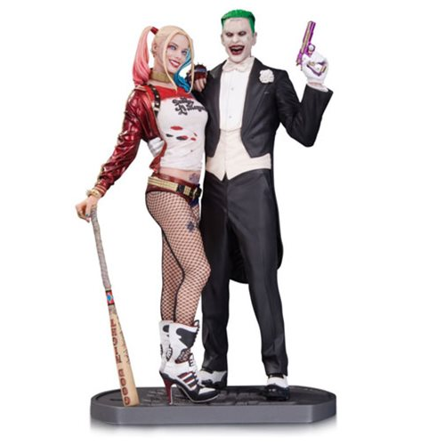Suicide Squad Joker and Harley Quinn Statue