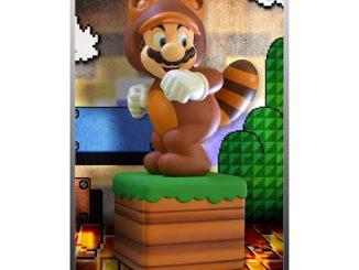 Super Mario 3D Land Tanooki Mario Statue