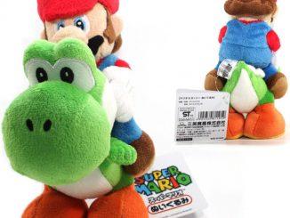 Super Mario Bros. Mario Riding On Yoshi Plush