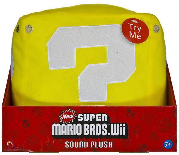 Super Mario Bros Wii Sound Plush Mystery Block