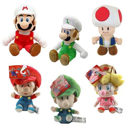 Super Mario Bros. 5-Inch and 8-Inch Plush Set